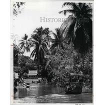 1976 Press Photo The river people of Bangkok - cva21861