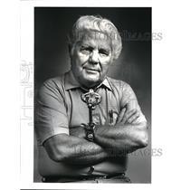 1987 Press Photo Milton Fletcher, Leader North American Indian Cultural Center