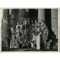 1937 Press Photo Mark A. Hanna Post, Duncan, Oglebay, Kaye, Bushey, Evans, Byrd