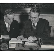 1931 Press Photo Harold Burton City Law Director Daniel Morgan Manager Cleveland