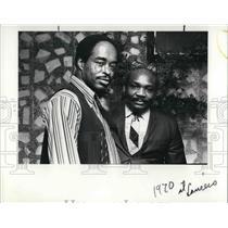 1986 Press Photo David Hill with James Raplin of Guyana - cva21189