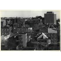 1980 Press Photo Architectural geometry in general view of Portland, Maine