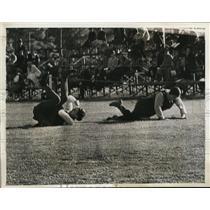 1936 Press Photo Ireland vs Australia women's field hockey at Philadelphia meet