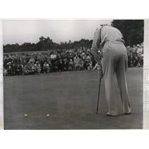 1938 Press Photo Denny Shute vs Ralph Guldahl at Newton MA South Shore club