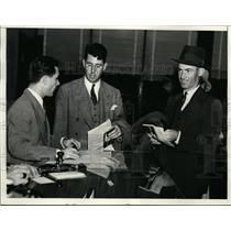 1937 Press Photo Denny Shute, Henry Picard in Miami for Biltmore golf in Florida