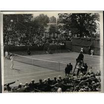 1930 Press Photo Davis Cup tennis in PA JAck Wright vs John Van Ryn - nes49022