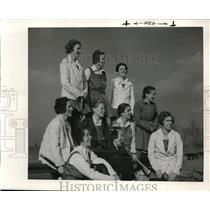 1939 Press Photo Hockey Team smile for the camera - ned20360