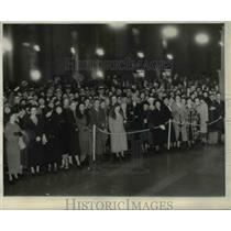 1935 Press Photo Detroit crowd to welcome Tigers home for World Series