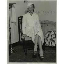 1933 Press Photo Sara Holloperer on liner Santa Elena in Los Angeles CA