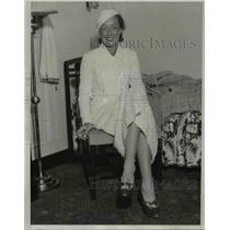 1933 Press Photo Sara Holloperer on liner Santa Elena in Los Angeles CA
