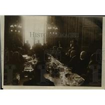 1919 Press Photo President Wilson attends dinner given by French Senate
