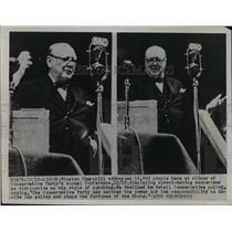 1949 Press Photo Winston Churchill addresses Conservative Party Conference