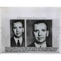 1955 Press Photo Maj.Gen.Eduardo Leonari resigned provisional Pres. of Argentina