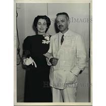 1937 Press Photo Katherine Lane, N.Y Actress wed Paul Y Anderson, Correspondents