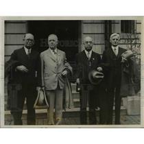 1928 Press Photo Thomas B Love Alvin S Moody Cato Solls Marshal Hicks