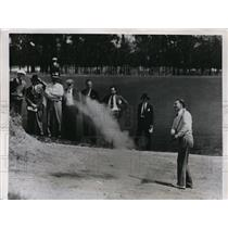 1938 Press Photo Jimmy Hines in sand at North & South Open Pinehurst NC
