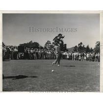 1937 Press Photo Wilford Wehrle wins Western Amateur Golf at LA CA club