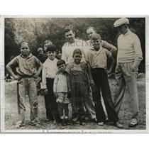 1932 Press Photo Micky Walker trains in CA for bout vs Arthur De Kum