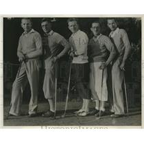 1932 Press Photo CA Amateur Handicap Golf Con, Bill, Frank, George, Joe Shea