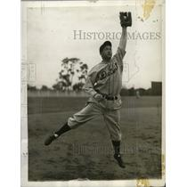 1937 Press Photo Former Brewer Chet Wilburn in Detroit uniform - mjs02210