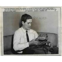 1958 Press Photo Milwaukee Braves player Robert Hazle - net04508