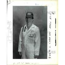 1991 Press Photo Bill Shields, lead mechanic Alaska Airlines - ora78248