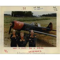 1992 Press Photo Tim Austen, Bill Reesman, Pat McNamee Fly Yak Attack Air Show