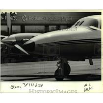 1983 Press Photo Piper Cheyenne III turboprop at Portland-Troutdale Airport