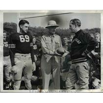 1941 Press Photo Maj Gen Robert Eichelberger, Ray Murphy, coach Earl Blaik
