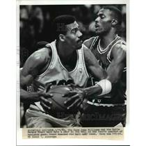 1989 Press Photo Richfield Coliseum The Cavs John Williams & Bulls Horace Grant