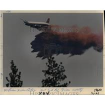1988 Press Photo A Plane Drops Fire Retardant on the Walker Mountain - orb12539