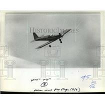 1982 Press Photo A radio-controlled Aero Master model in flight - mja01539