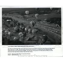 1992 Press Photo 17th annual Great Wisconsin Dells Balloon Rally - mja01114