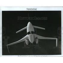 1985 Press Photo Beechcraft Starship 1- 85% Scale Flying prototype  - mja04167
