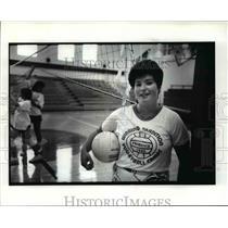 1986 Press Photo Fairview Park Volleyball coach - cvb58432
