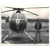 1985 Press Photo Helicopter Pilot John M Cage Jr - orb13363