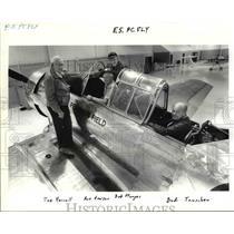 1989 Press Photo Veteran pilots Harrell, Howser, Sturges & Tauscher reunited