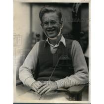 1928 Press Photo Golfer George Dunlap after winning Nat'l Amateur Championship