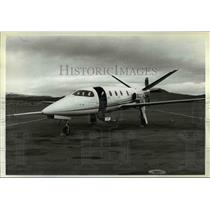 2003 Press Photo A Lear Fan Turboprop Stands On The Factory Runway - ora96544