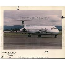 1996 Press Photo Alaska Airline MD-80 Jet New Look - ora99637