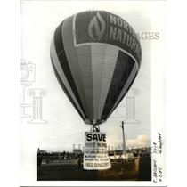 1985 Press Photo Balloon at Tom McCal Waterfront Park - orb70434