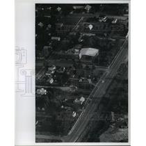 1978 Press Photo Aerial view of the small Upper Michigan village of Watersmeet