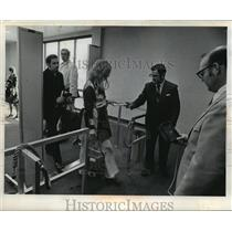 Press Photo Eastern Air Lines gate security check at Mitchell Field - mja01537