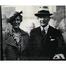 Press Photo Sen. Guglialmo Marconi & wife Marchesa Maria Marconi