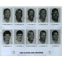 1989 Press Photo 1989 Cleveland Browns - cvb66775