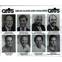 1993 Press Photo 1993-1994 Cleveland Cavaliers Executives and Coaches