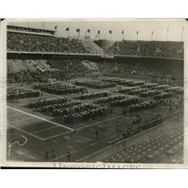 1929 Press Photo Navy Midshipmen on the field before game vs Dartmouth