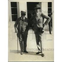 1928 Press Photo Owner Joseph Widener, trainer JH Lewis after Brook Steeplechase