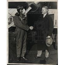 1930 Press Photo WW Dwyer of Chicago Allarion House & Capt Joseph Donnellan