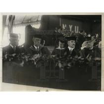 1930 Press Photo New York University commencement exercises on campus in NYC